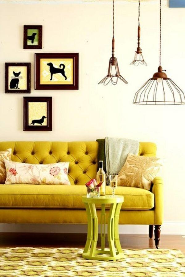 Wohnzimmer Design Frisch Gelbes Sofa
