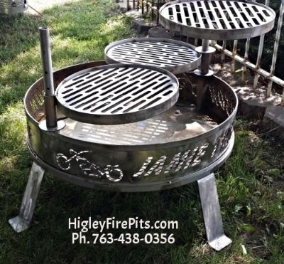 Stainless Steel Fire Pit Ring Liners Inserts Spark Screens Covers Feuerstelle Grill Grill Bauen Feuerstelle