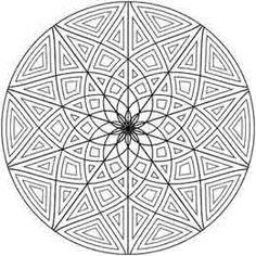 Geometrip.com - Gratis Geometrische Kleurplaat Designs - Cirkels
