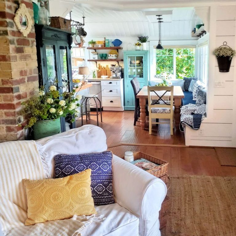 Photo of Colorful Cottage Living Room Summer Tour