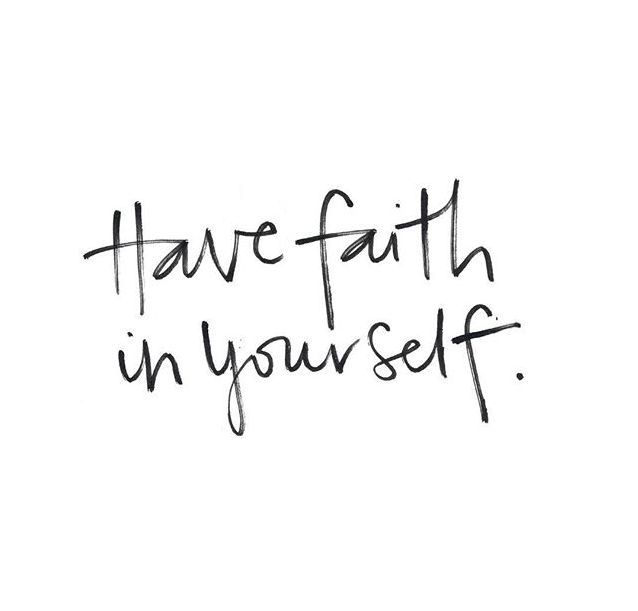 Have faith in yourself | The Red Fairy Project