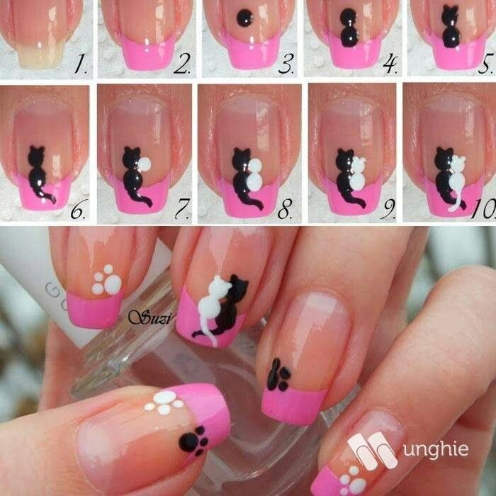 Tutorial Unghie! | Appunti e suggerimenti | Pinterest | Cat nails ...