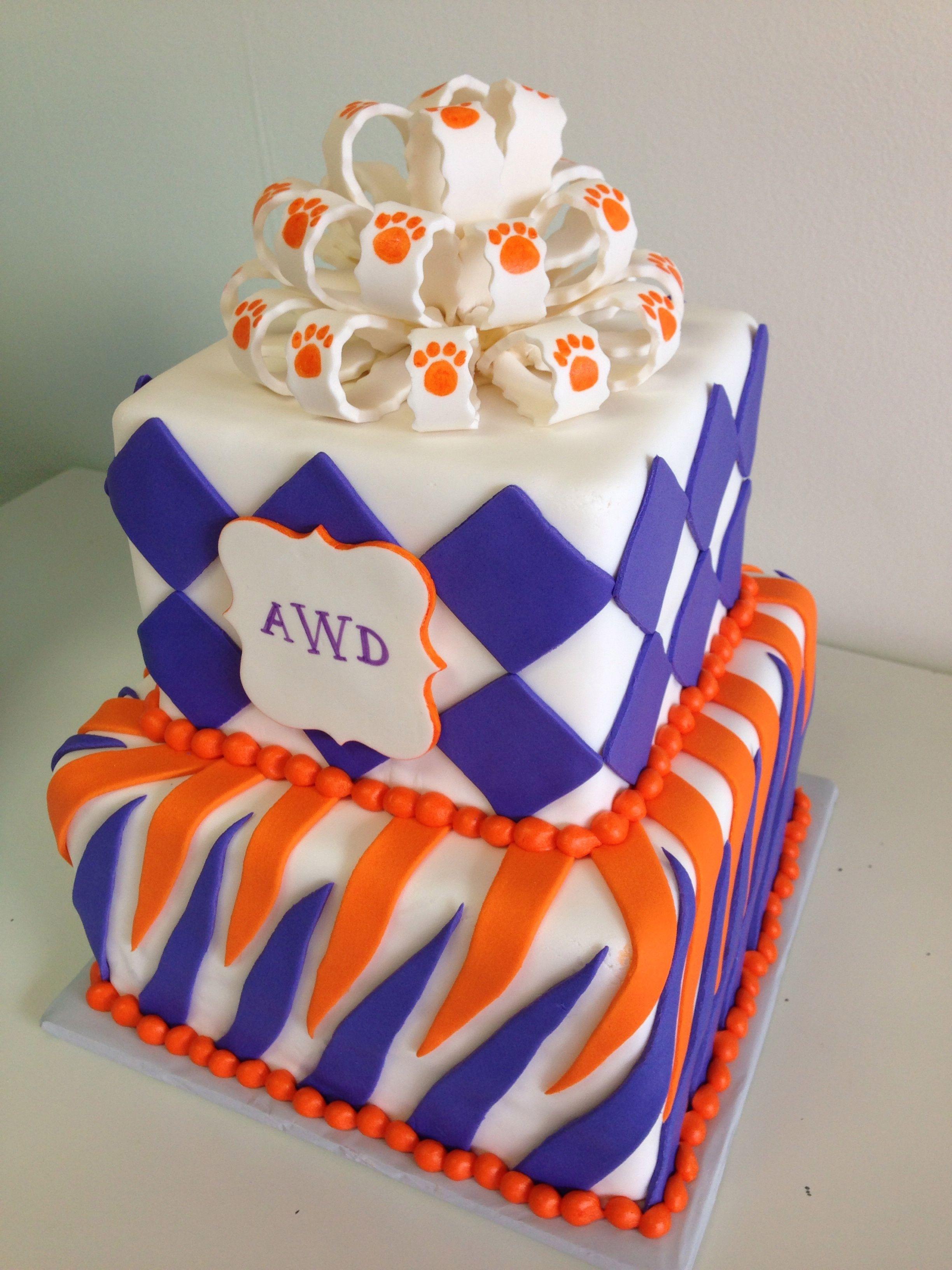Clemson Grad Cake Applemark 30th Birthday Cake Pinterest