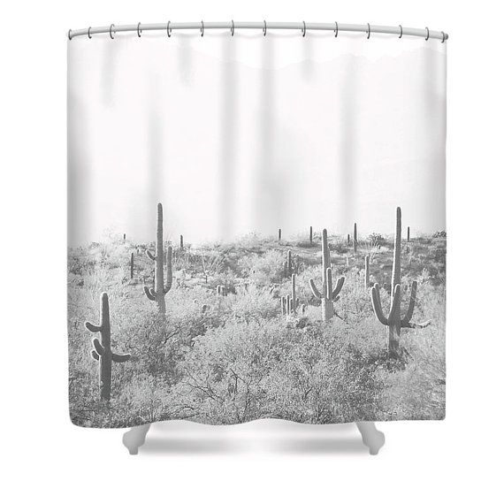 Cactus Shower Curtain Desert Home Decor Rustic Bathroom Etsy In