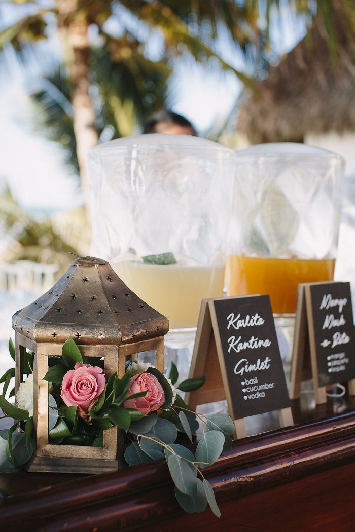 Beach Wedding cocktails | Fab Mood