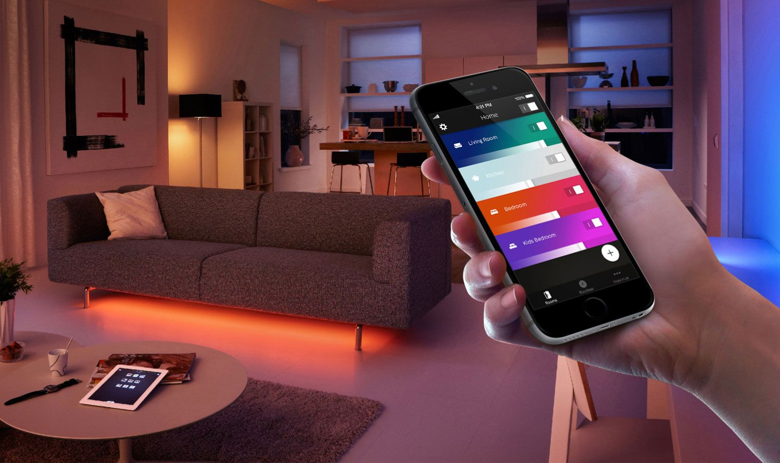 7 ideas to use philips hue lightstrips aloadofball Gallery