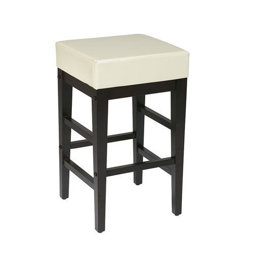 Office Star Products Metro Cream Faux Leather 25 Inch Barstool