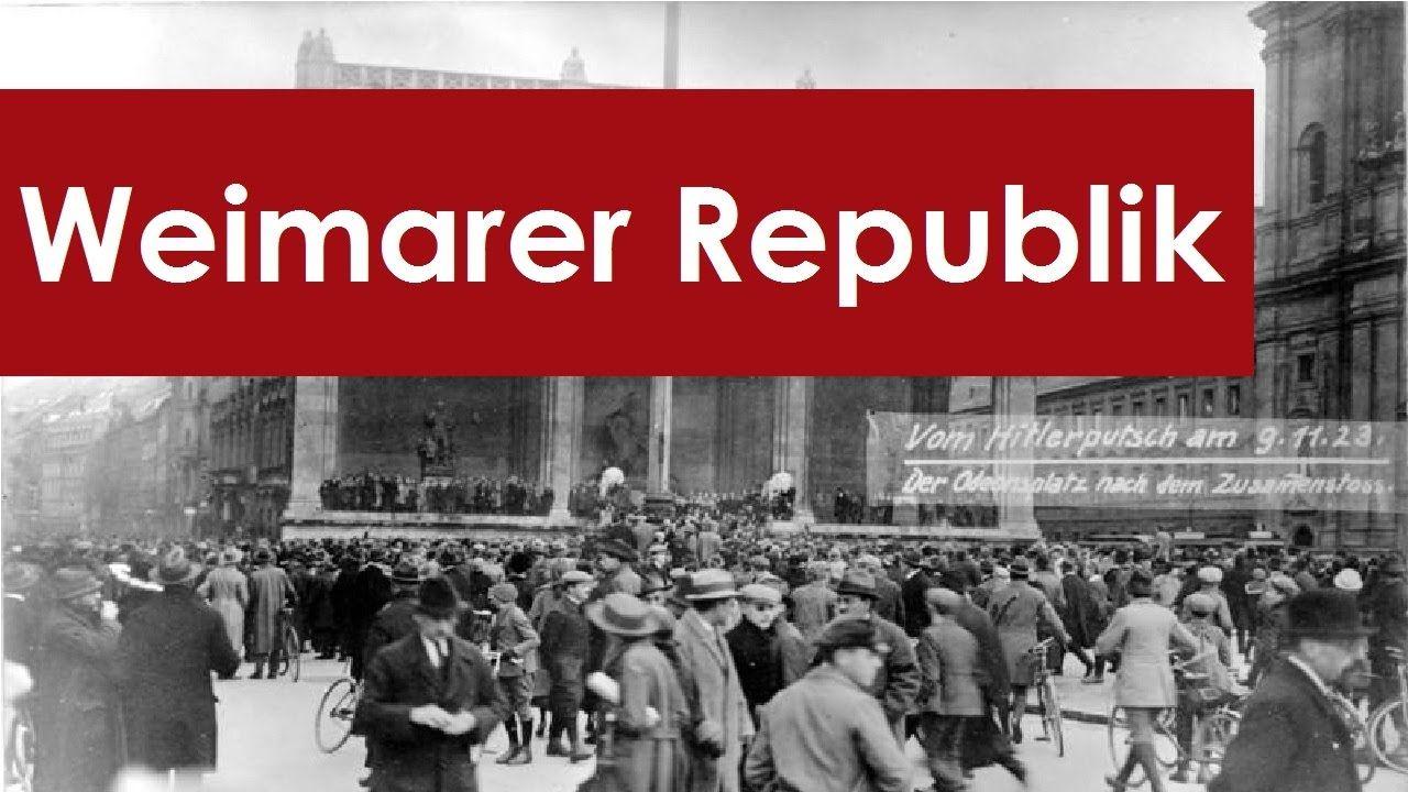 Deutschland 191833 Weimarer Republik Zusammenfassung History