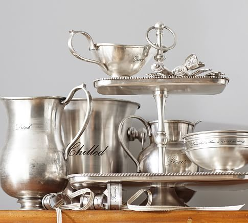 Antique Silver Sentiment Wine Bottle Cooler Silver Serveware Ceramic Dinnerware Set Silver Tea Set
