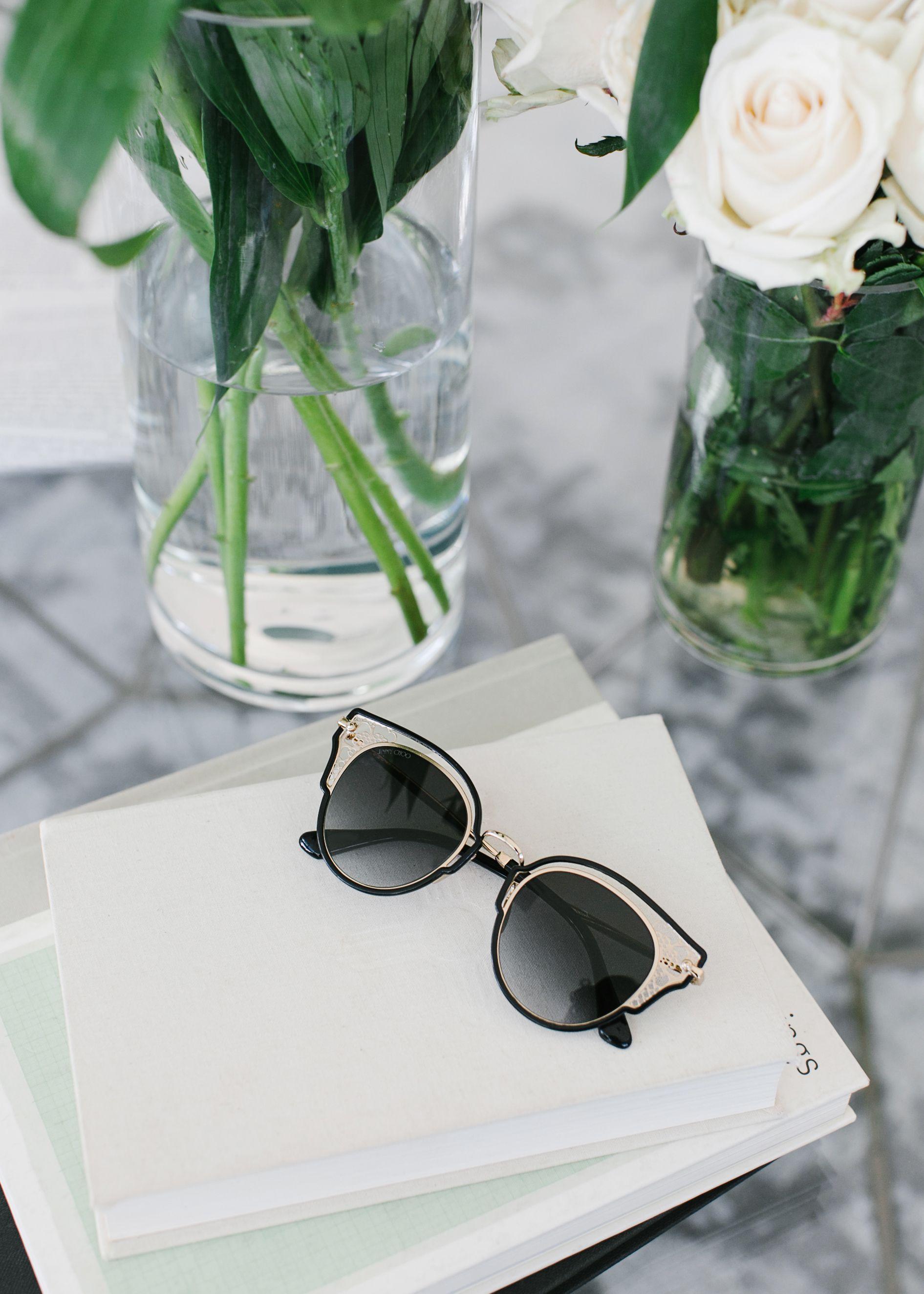 105740e1f114 The DHELIA Black and Rose Gold Metal Sunglasses