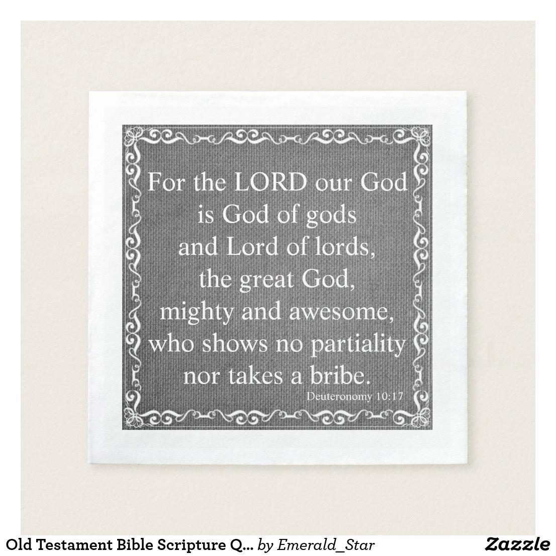 Old Testament Bible Scripture Quote Deuteronomy Napkin