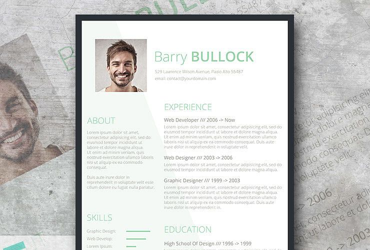 Free template for resume basic and light freesumes
