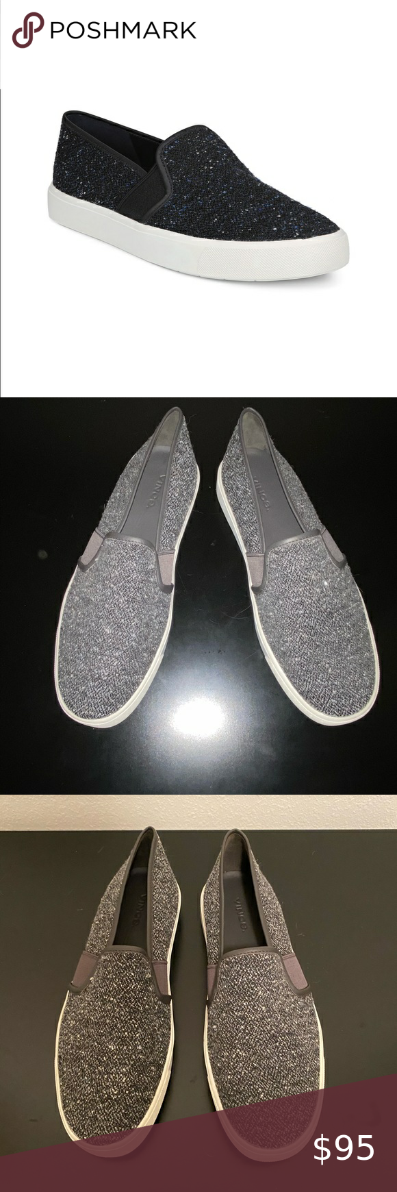Vince Blair Tweed Slip On Sneaker. NWOT