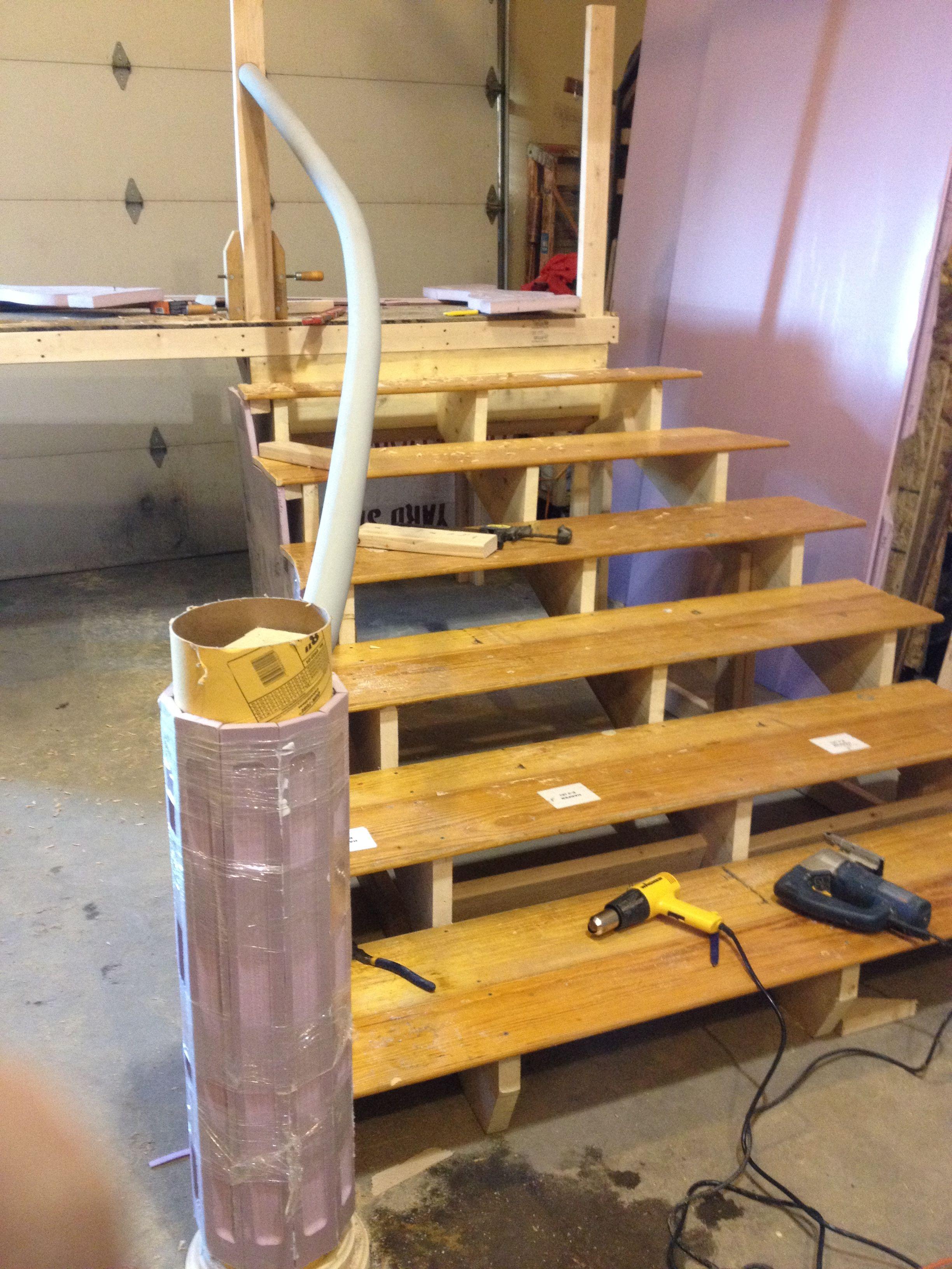 Building The Bridge And Staircase Set Design Theatre Cinderella Musical Frozen Musical
