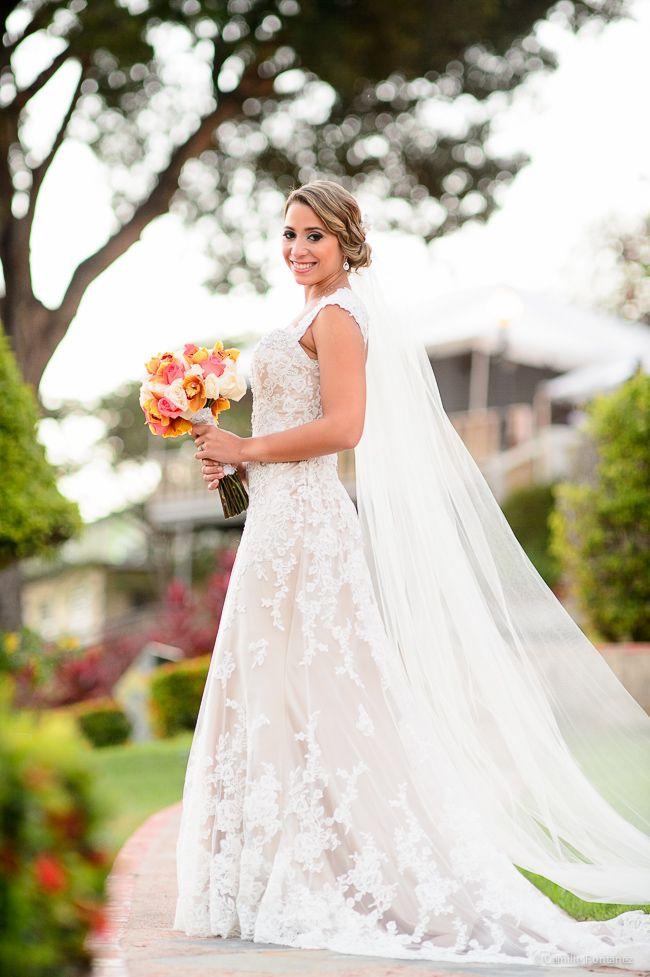 Gorgeous David Tutera Wedding Gown at Castillo Serralles