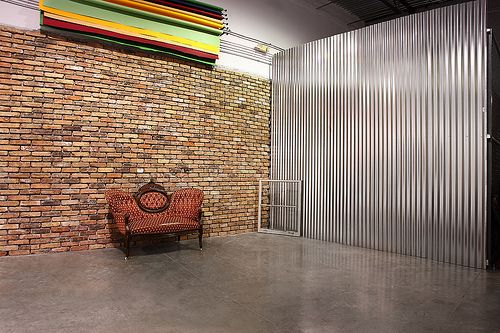 Brick Wall Corrugated Wall Motorized Seamless Paper Corrugated Metal Wall Photography Studio Spaces Corrugated Wall