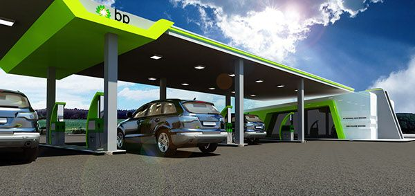 A new design for Bp Company | fuel station | Bp gas, Gas station