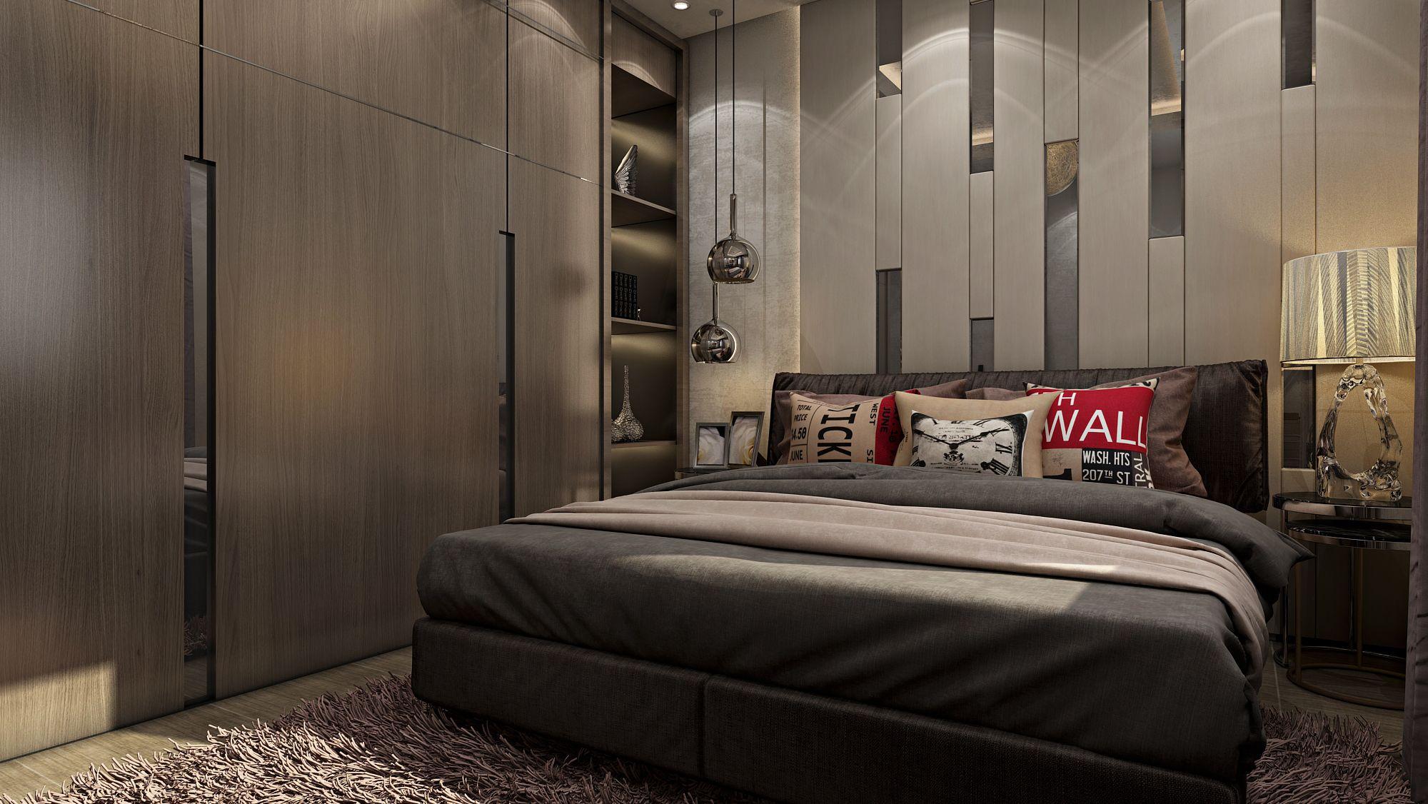 Modern Boy Bedroom, Apartment, Egypt.  Boys bedroom modern