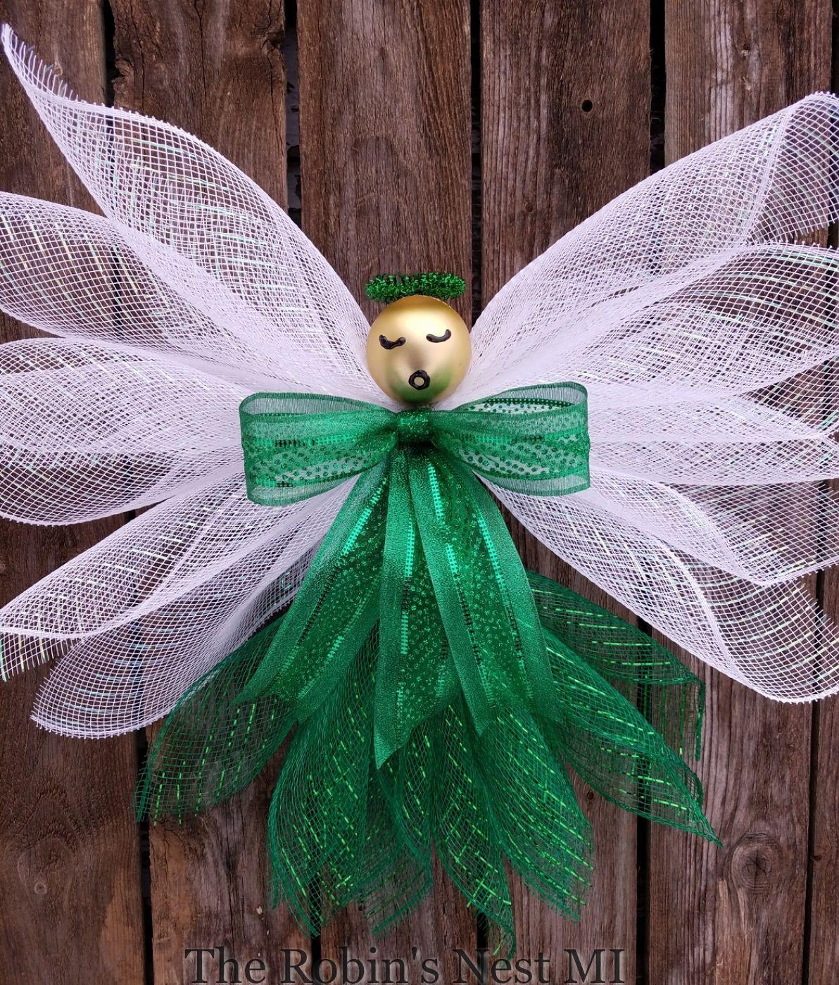 Angel wreath st patricks day angels christmas tree