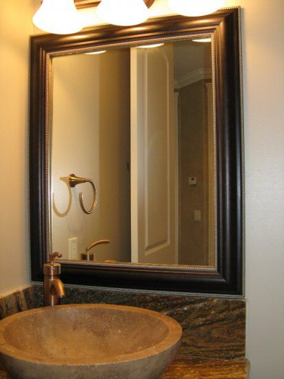 Bathroom Mirror Frame Kit EASY install - bathroom update in minutes