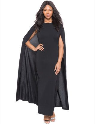 ad86a334cbd Studio Jersey Capelet Gown Black