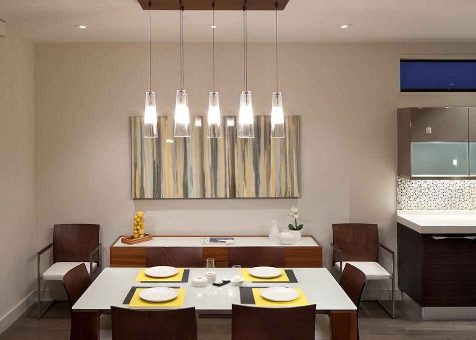 Room · linear pendant arrangement from lbl lighting
