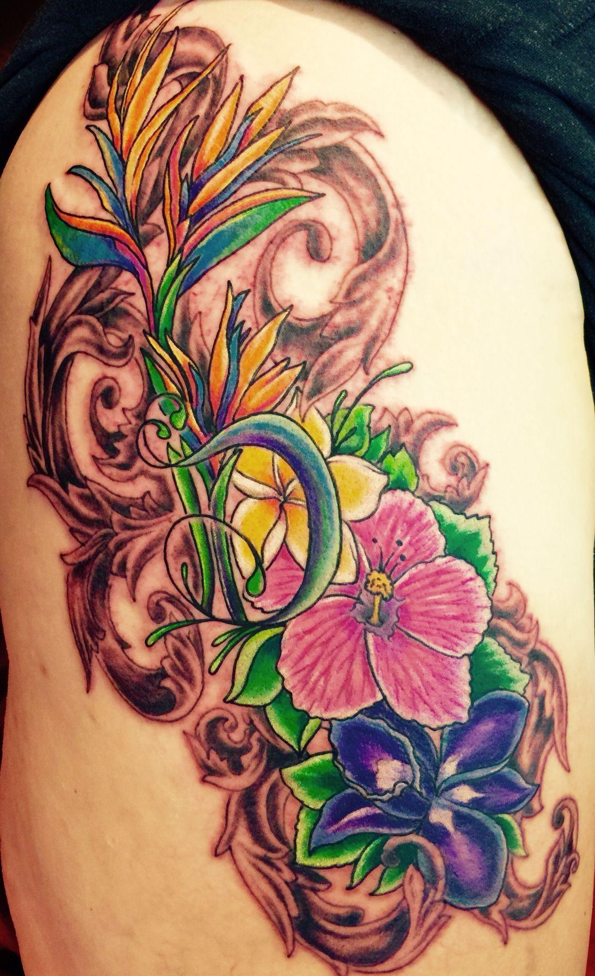 Hawaiian flowers tattoo hawaiiantattoos hawaiian tattoos hawaiian flowers tattoo hawaiiantattoos izmirmasajfo