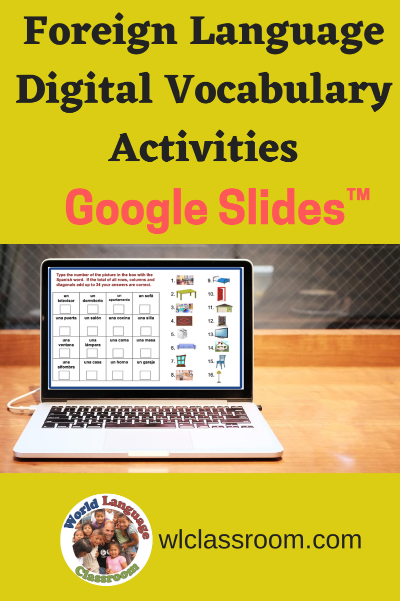 These Google Slides Digital Foreign Language Activities Support Students As They Wo In 2020 Foreign Language Activities Foreign Language Classroom Language Activities