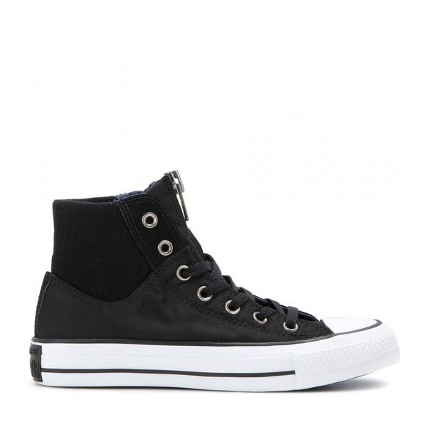 Chuck Taylor All Star High Zip sneakers Converse ($95) ❤ liked on Polyvore featuring shoes and sneakers