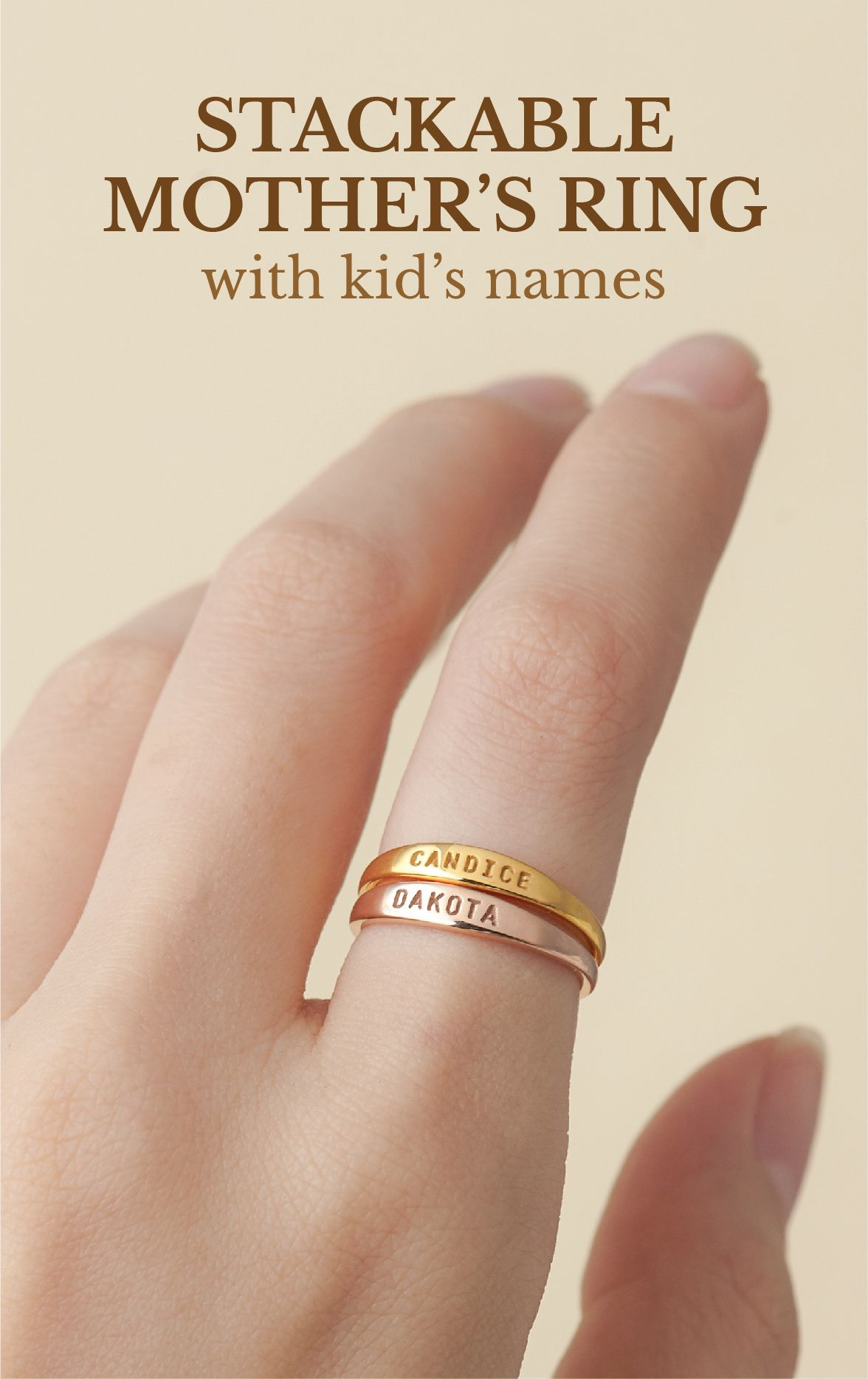 Personalized Rings With Kids Name Birthday Gift Ideas For Mother Custom Made Jewelr Mothers Ring Stackable Unique Gifts For Mom Personalized Gifts For Her
