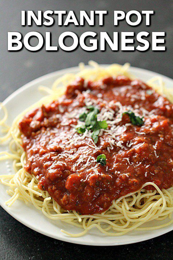 Instant Pot Bolognese Sauce (Pressure Cooker Recipe)