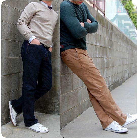 White Canvas Sneakers   Khaki tops