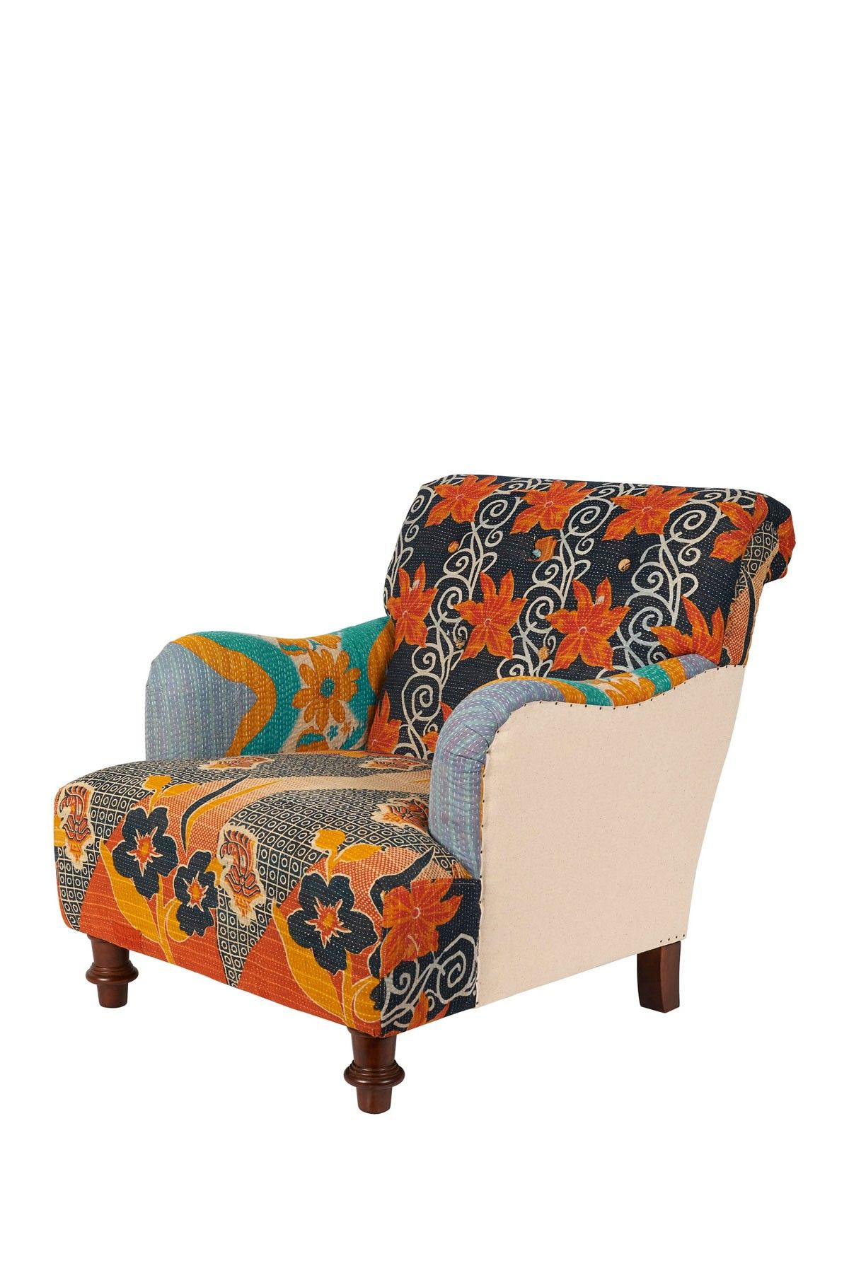 Kantha Blanket Arm Chair Nice Upholstery Details Armchair