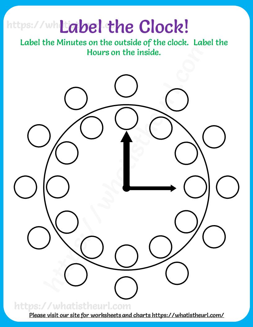 Label The Clock Worksheet In 2021 Clock Worksheets Worksheets Clock [ 1056 x 816 Pixel ]
