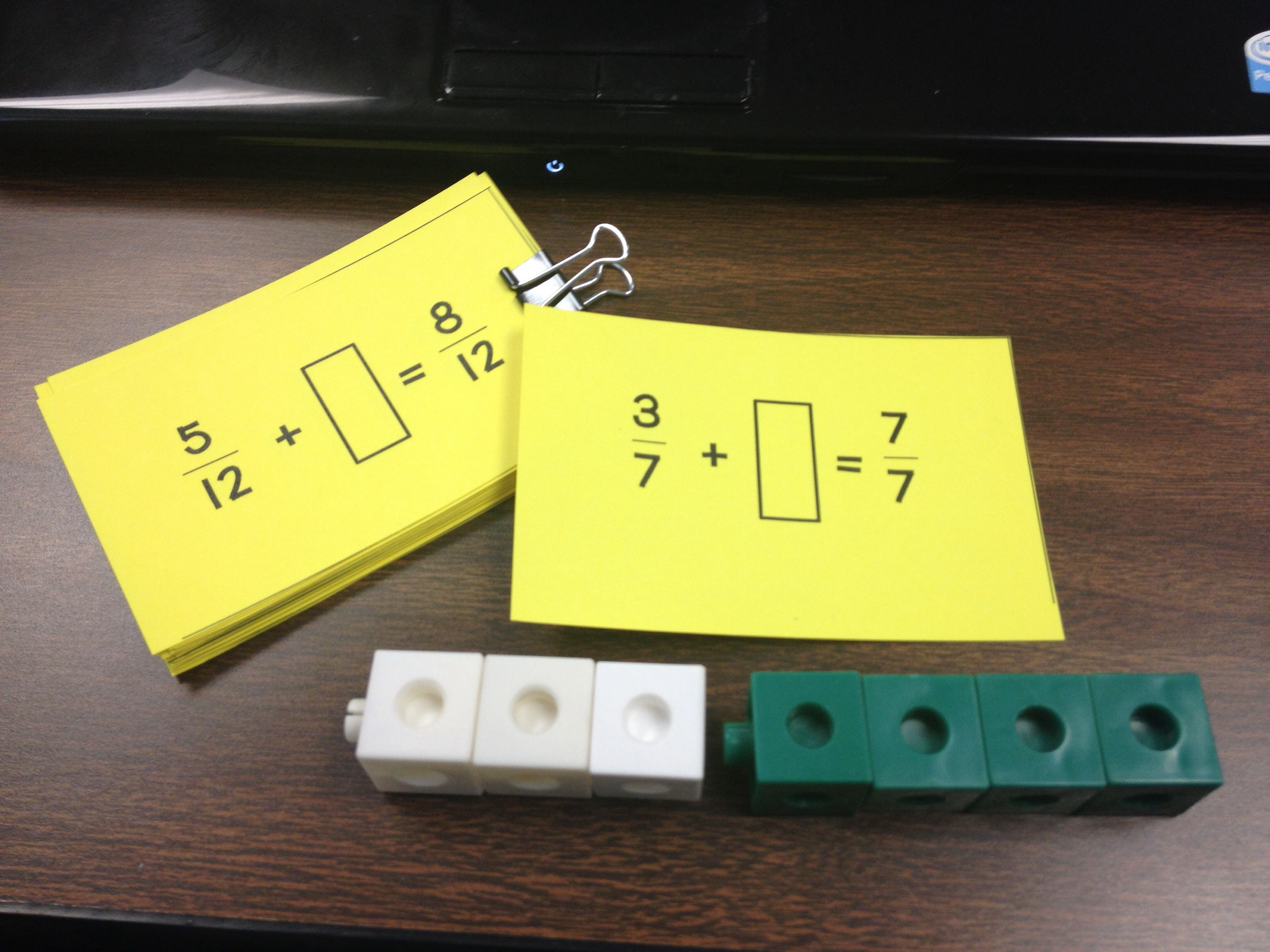 Composing And Decomposing Fractions With Unifix Cubes