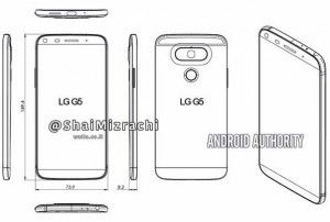 Leaked LG G5 diagram shows new design, volume buttons on the