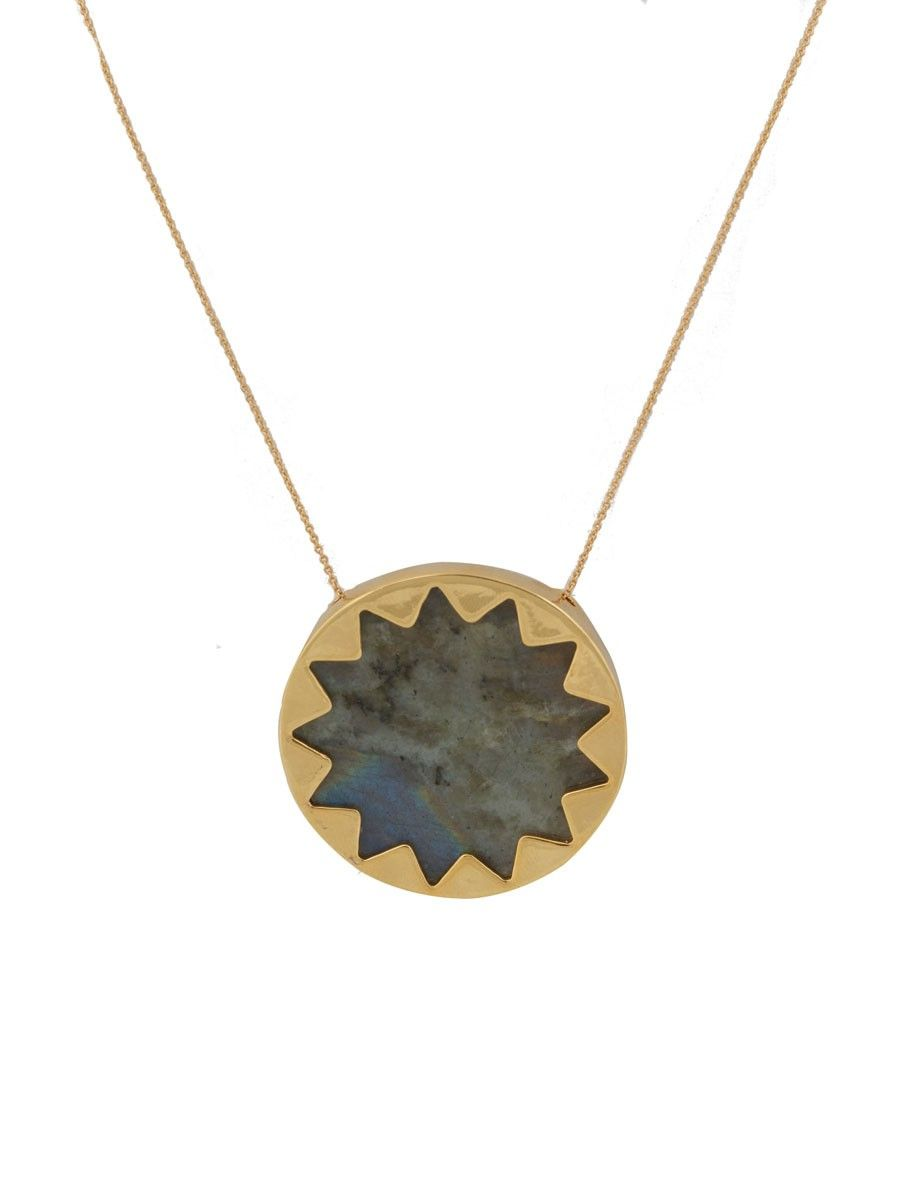 house of harlow Labradorite Sunburst Pendant Necklace house of
