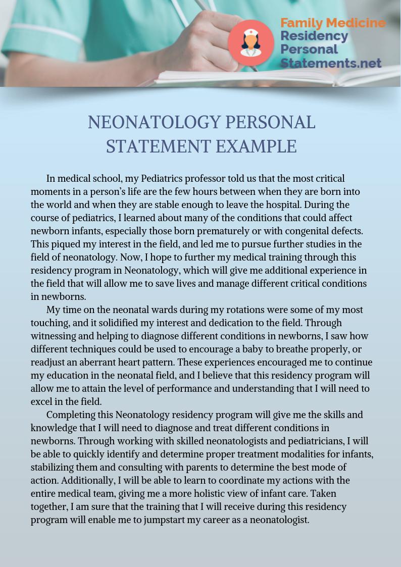 Expert Neonatology Personal Statement Writing Help Personal Statement Examples Personal Statement Neonatology