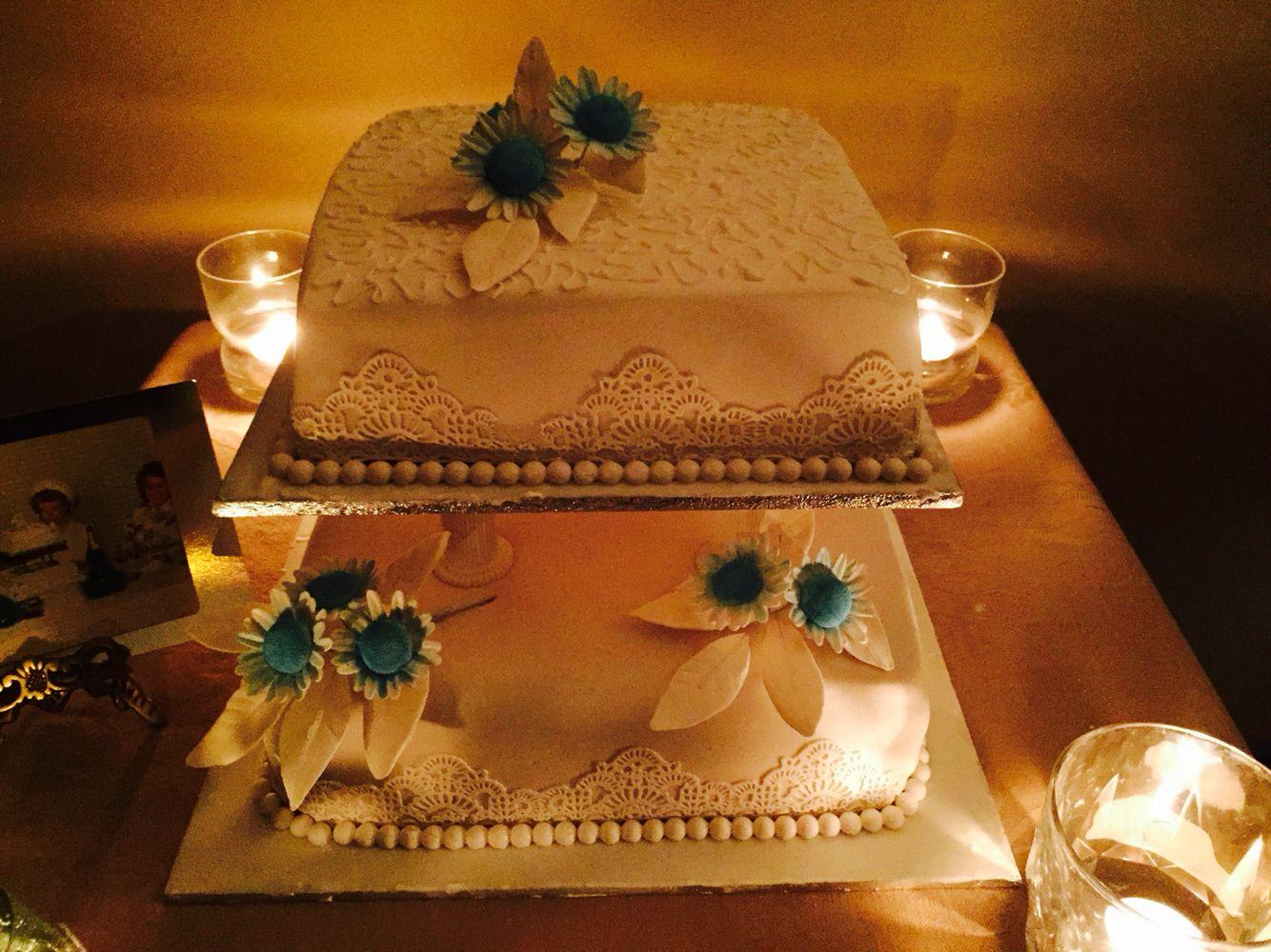 Decoration ideas for 40th wedding anniversary  th Wedding anniversary cake  Wedding Cakes  Pinterest  th