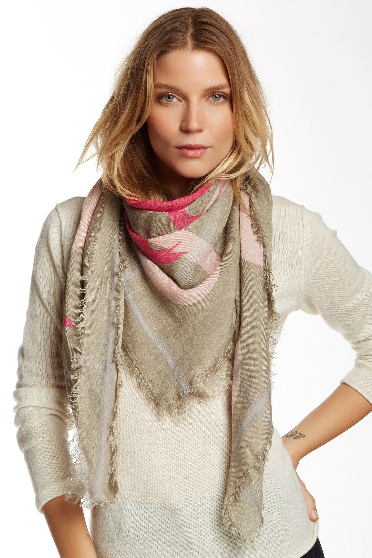 How to square a wear fringe scarf best photo