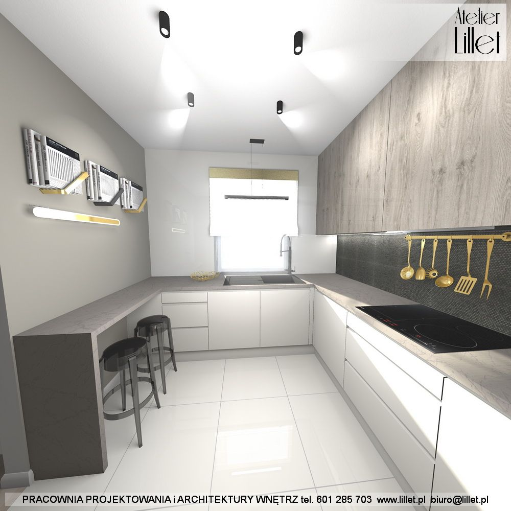 Projekt Wnetrza Kuchni W Kolorach Ziemi Z Dodatkiem Zlota Lil Let Projektowanie Wnetrz Szczecin Small Apartments Home Decor Home