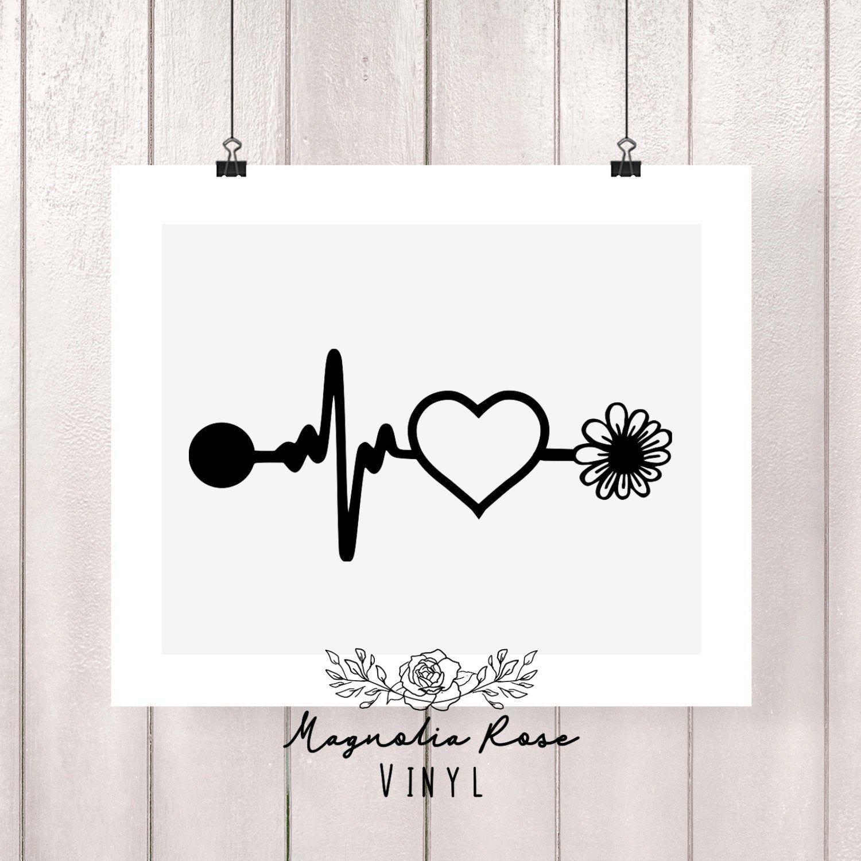 Nurse Stethoscope with Custom Monogram Name Vinyl Wall Words Decal Sticker Graphic