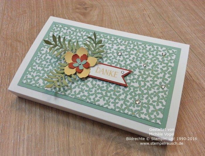 Stampin Up_Toffifee_Verpackung_Schokoladenverpackung_Framelits_Pflanzen-Potpourri_Designerpapier_Botanischer Garten_Stempelset_Grußelemente_1