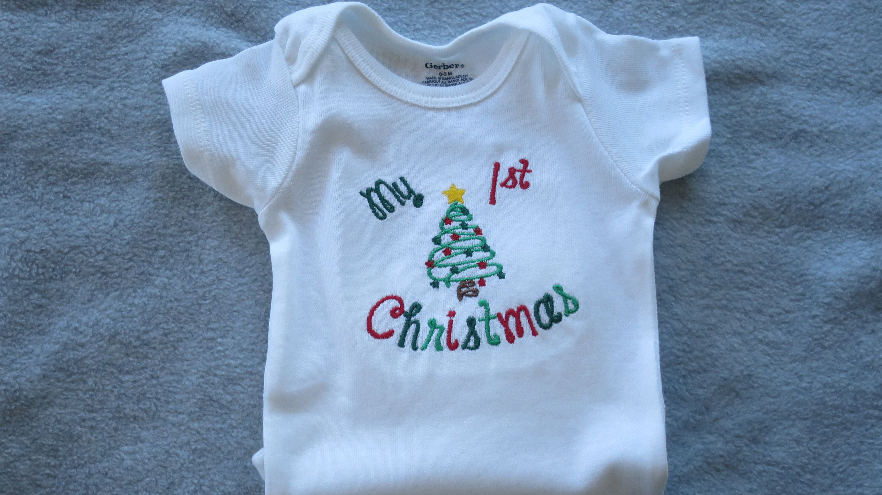 Baby embroidered onesie infant embroidered onesie my 1st