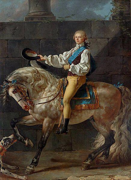 Jacques-Louis David - Portrait équestre de Stanisław Kostka Potocki (1781)
