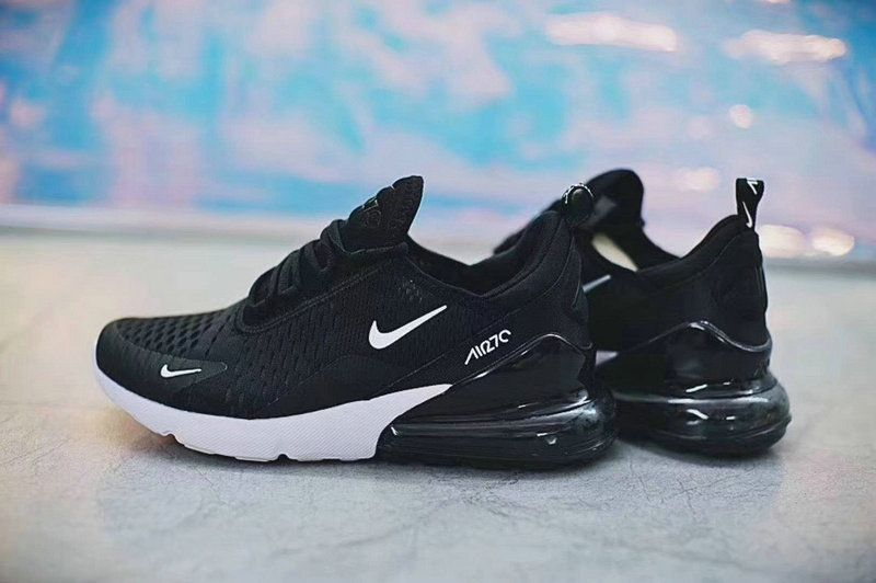 check out a2fac 8c445 2018 Newest Unisex Nike Air Max 270 Black White AH8050-002 Sneaker