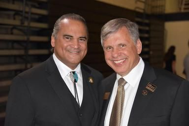 What a great tag team for the Lumbee people, Tribal Chairman Harvey Godwin Jr. and UNC Pembroke Chancellor Dr. Robin Cummings.