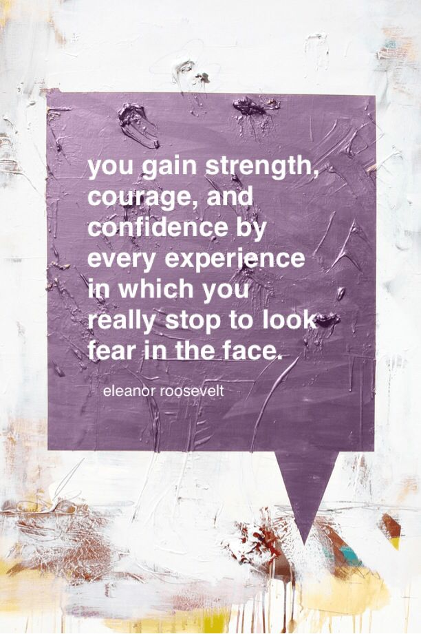 """""""You gain strength, courage, and confidence by every experience in which you really stop to look fear in the face.""""—Eleanor Roosevelt #breastcancer #cancer #pinklink #pink #pinkforbreastcancer #survivor #breastcancerawareness #cancersupport #pinkribbon #fightbreastcancer #cancersucks #cancersurvivor #findacure #quotes #inspiration"""