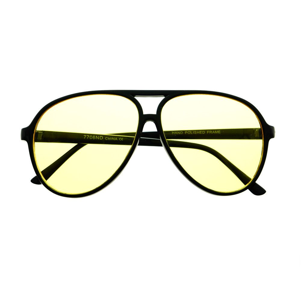 407638d25f  aviator  sunglasses  shades  retro  vintage  fashion  style  celebrity   inspired  black  driving  yellow  lens  blue  blocking  large