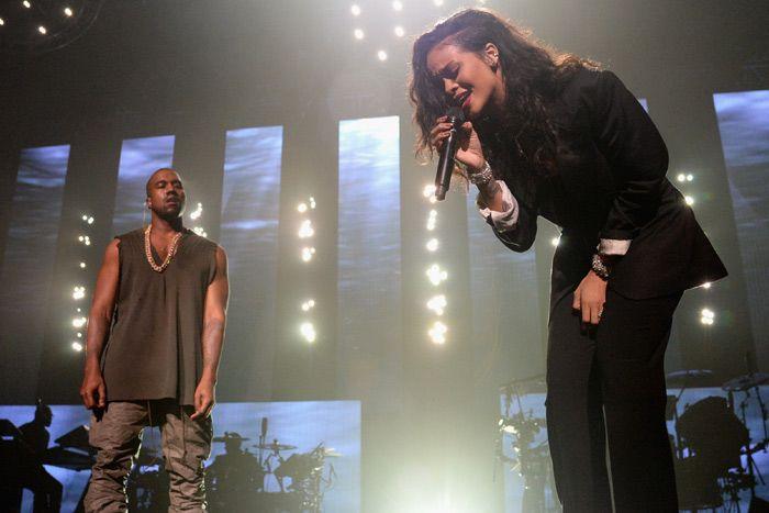 Rihanna And Kanye West At Directv S Super Saturday Night Party Paul Mccartney Rihanna Kanye West Rihanna